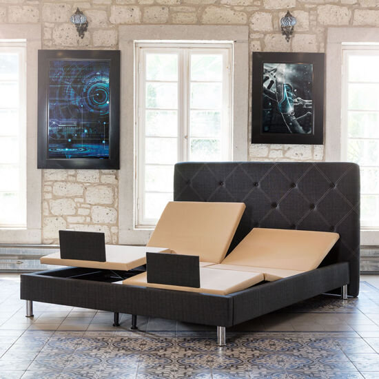 Electro Nightstand & Bed Set