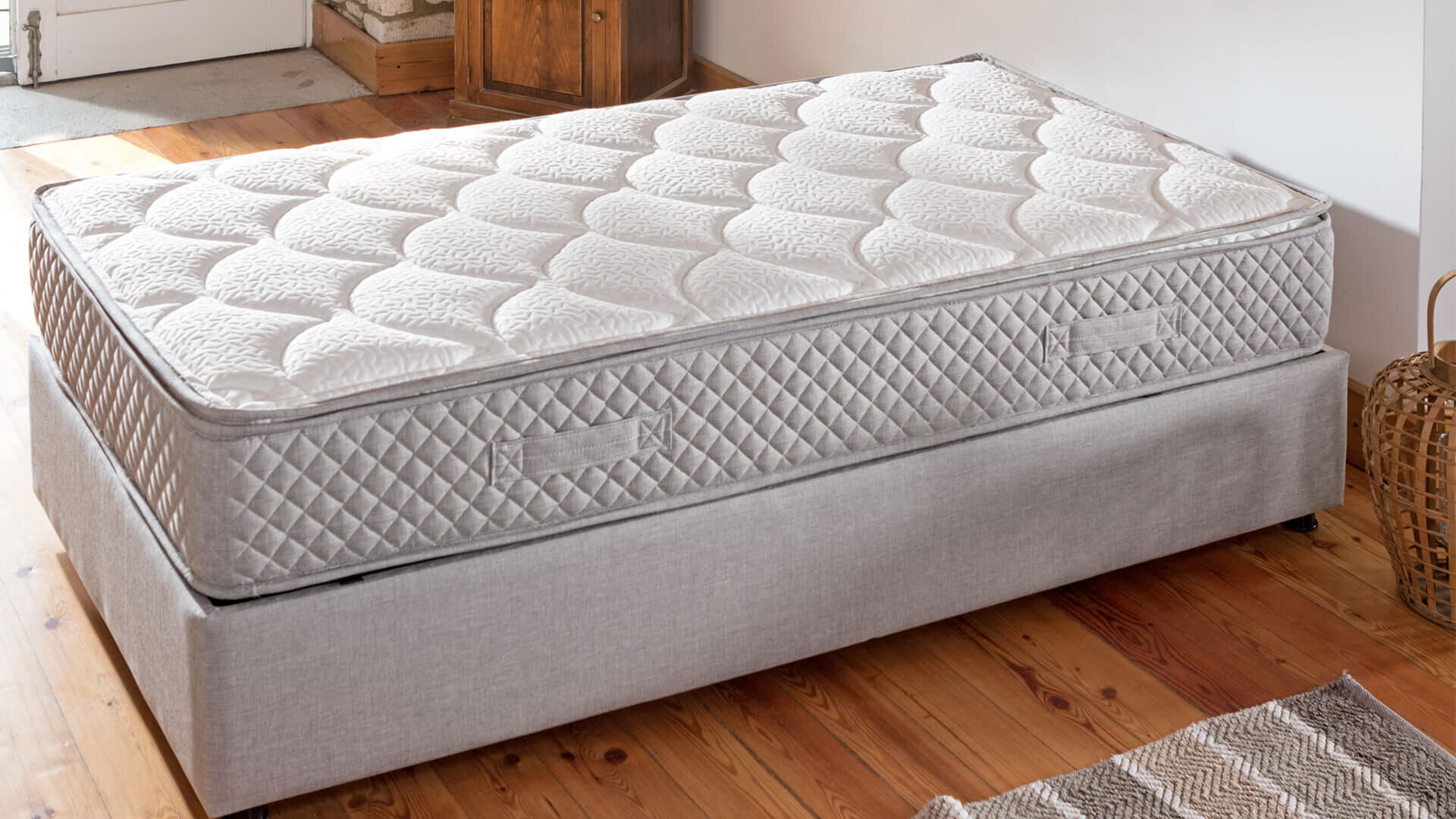Young Star Bed Base Grey Bedstead