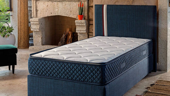 Young Star Mattress Set Dark Blue