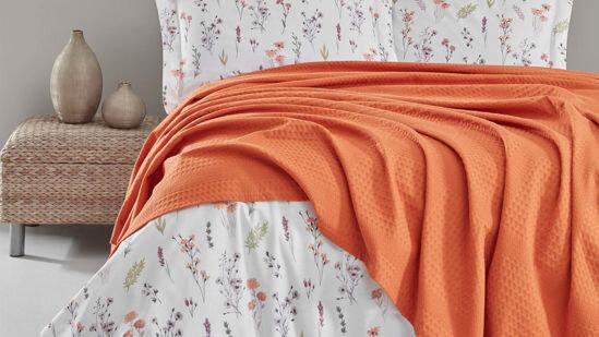 Rita Orange Pique Set-Double